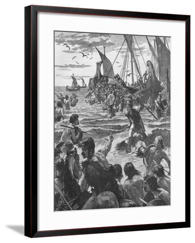 Landing of the Romans on the Coast of Kent, 43--Framed Art Print