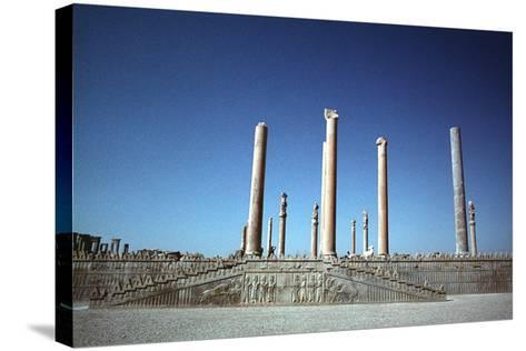 Ruins of the Apadana, Persepolis, Iran-Vivienne Sharp-Stretched Canvas Print