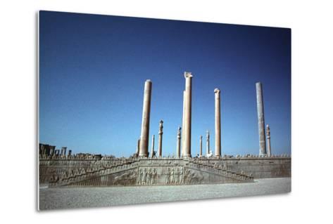 Ruins of the Apadana, Persepolis, Iran-Vivienne Sharp-Metal Print