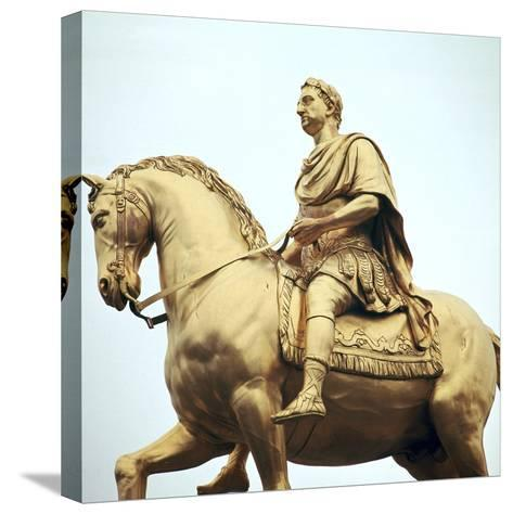 Equestrian Statue of King William Iii, 18th Century-Peter Scheemakers-Stretched Canvas Print