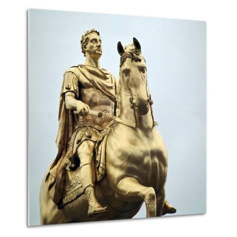 Equestrian Statue of King William Iii, 18th Century-Peter Scheemakers-Metal Print