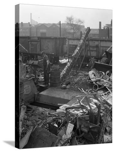 Recycling Scrap, Rotherham, South Yorkshire, 1965-Michael Walters-Stretched Canvas Print