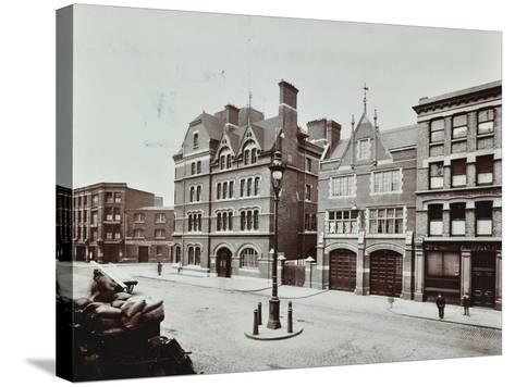 Whitechapel Fire Station, Commercial Road, Stepney, London, 1902--Stretched Canvas Print