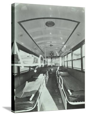 Interior of Coach Type Ambulance, Western Ambulance Station, Fulham, 1935--Stretched Canvas Print