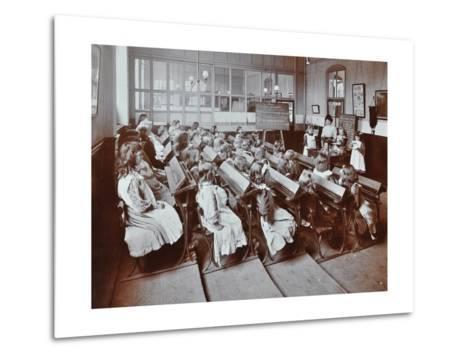 Chemistry Lesson, Albion Street Girls School, Rotherhithe, London, 1908--Metal Print