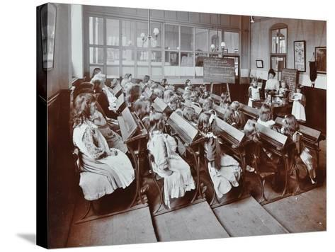Chemistry Lesson, Albion Street Girls School, Rotherhithe, London, 1908--Stretched Canvas Print
