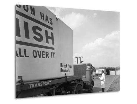 Bacon Delivery from Denmark, Kilnhurst, South Yorkshire, 1964-Michael Walters-Metal Print