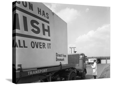 Bacon Delivery from Denmark, Kilnhurst, South Yorkshire, 1964-Michael Walters-Stretched Canvas Print