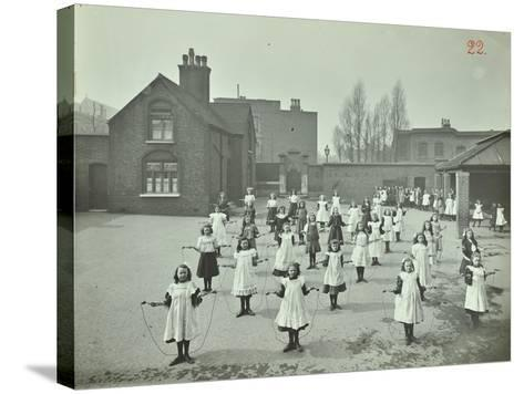 Girls Skipping, Rushmore Road Girls School, Hackney, 1908--Stretched Canvas Print