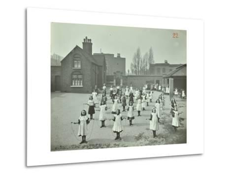 Girls Skipping, Rushmore Road Girls School, Hackney, 1908--Metal Print