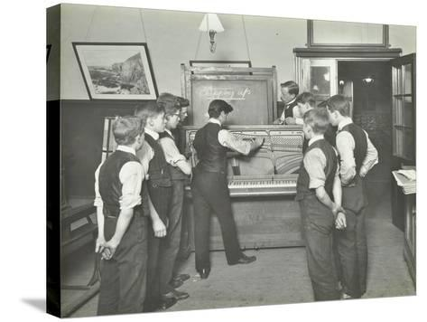 Constructing a Piano, Benthal Road Evening Institute, London, 1914--Stretched Canvas Print