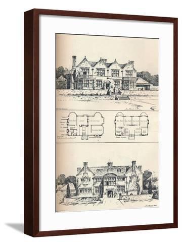 Houghton Grange, Near Huntingdon, C1897--Framed Art Print
