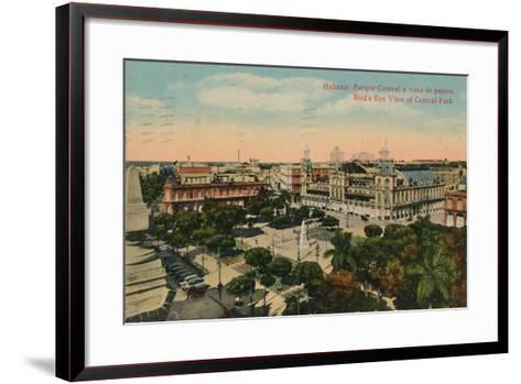 Birds-Eye View of Central Park, Havana, Cuba, C1919--Framed Art Print