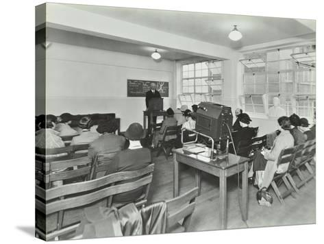 Lecture in Progress, City Literary Institute, London, 1939--Stretched Canvas Print