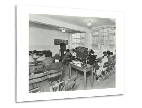 Lecture in Progress, City Literary Institute, London, 1939--Metal Print