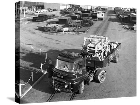 Austin 504 Tractor Unit Belonging to the National Coal Board (Ncb), 1963-Michael Walters-Stretched Canvas Print