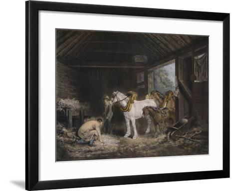 The Farmers Stable, (1791) 1901-George Morland-Framed Art Print