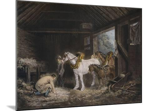 The Farmers Stable, (1791) 1901-George Morland-Mounted Giclee Print