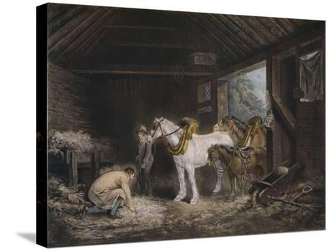 The Farmers Stable, (1791) 1901-George Morland-Stretched Canvas Print