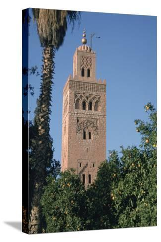 Minaret of the Koutoubia Mosque, Marakesh, Morocco-Vivienne Sharp-Stretched Canvas Print