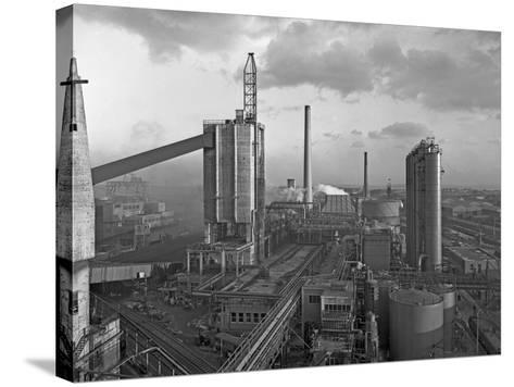 Manvers Coal Processing Plant, Wath Upon Dearne, Near Rotherham, South Yorkshire, February 1957-Michael Walters-Stretched Canvas Print