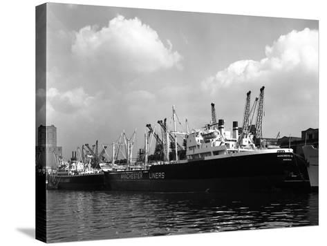 The Manchester Renown in Dock on the Manchester Ship Canal, 1964-Michael Walters-Stretched Canvas Print
