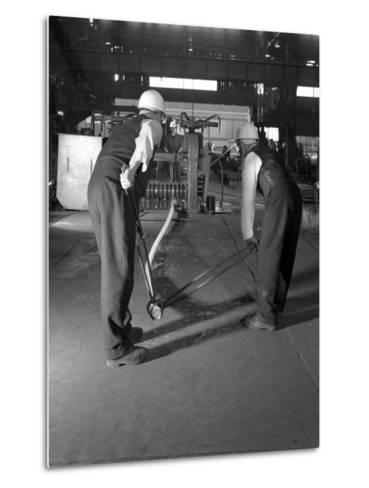 Rolling Steel Bars, Park Gate Iron and Steel Co, Rotherham, South Yorkshire, 1964-Michael Walters-Metal Print