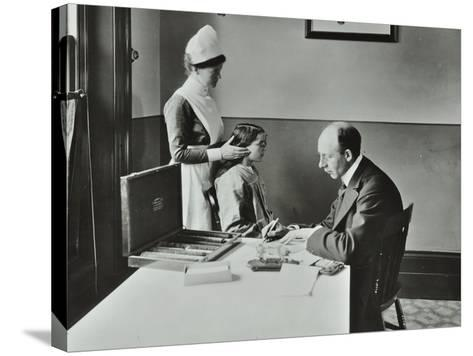 Consulting Room, Norwood School Treatment Centre, London, 1911--Stretched Canvas Print