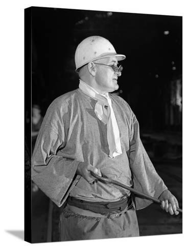 Steel Worker, Park Gate Steelworks, Rotherham, South Yorkshire, 1964-Michael Walters-Stretched Canvas Print