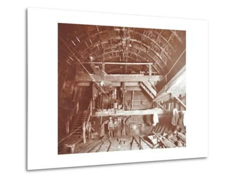 Bulkhead to Retain Compressed Air in Rotherhithe Tunnel, London, October 1906--Metal Print