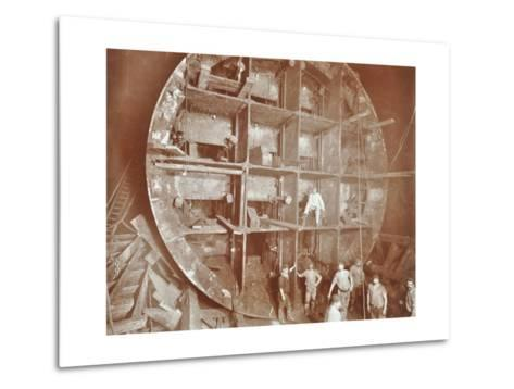 Construction of the Rotherhithe Tunnel, Bermondsey, London, November 1906--Metal Print