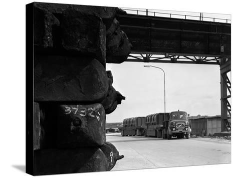 Erf 66Gsf Tipper Pulling a Hot Ingot Transporter, Rotherham, South Yorkshire, 1963-Michael Walters-Stretched Canvas Print