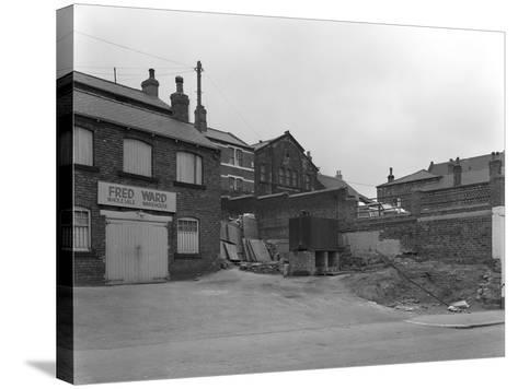 Greengrocers Warehouse Exterior, Mexborough, South Yorkshire, 1966-Michael Walters-Stretched Canvas Print