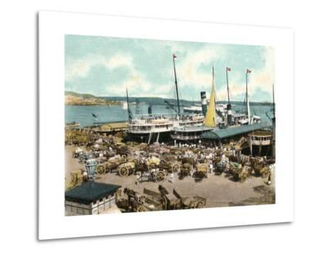 Muelle De Luz Harbour with Ferries, Havana, Cuba, 1904--Metal Print