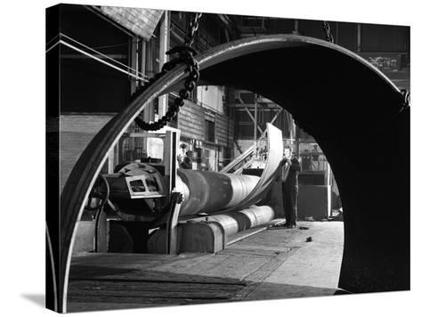 Rolling Plate at Edgar Allens Steel Foundry, Sheffield, South Yorkshire, 1964-Michael Walters-Stretched Canvas Print