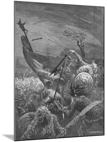 Death of King Harold at the Battle of Hastings, 1066--Mounted Giclee Print