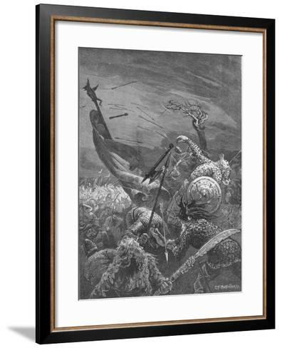 Death of King Harold at the Battle of Hastings, 1066--Framed Art Print