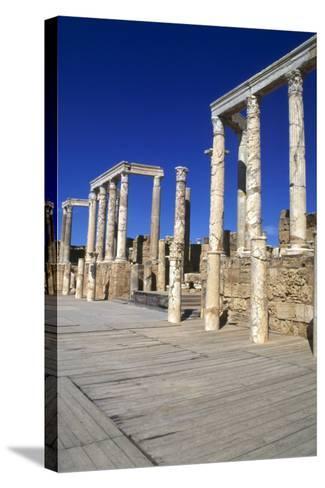 Theatre, Leptis Magna, Libya, 1-2 Ad-Vivienne Sharp-Stretched Canvas Print