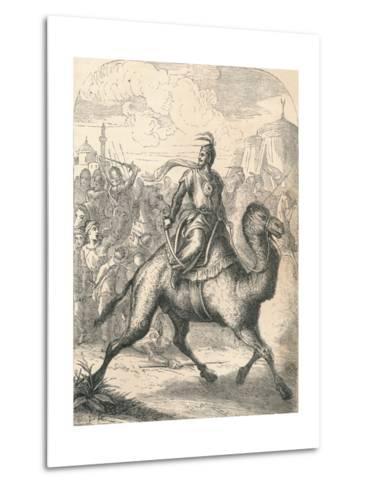 Saladin Escaping on a Swift Dromedary, 1869--Metal Print