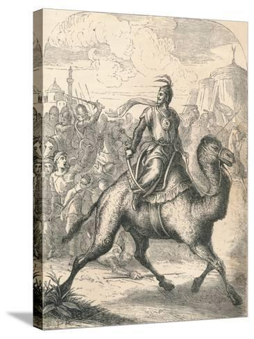 Saladin Escaping on a Swift Dromedary, 1869--Stretched Canvas Print