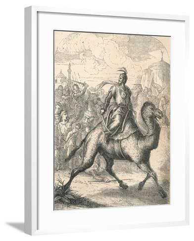 Saladin Escaping on a Swift Dromedary, 1869--Framed Art Print