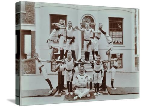 Gymnastics Display at the Boys Home Industrial School, London, 1900--Stretched Canvas Print