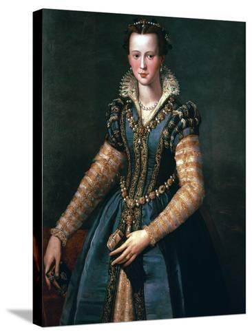 Portrait of Maria De Medici, 16th Century-Alessandro Allori-Stretched Canvas Print