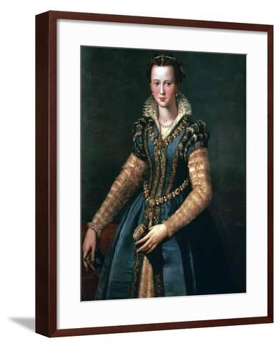 Portrait of Maria De Medici, 16th Century-Alessandro Allori-Framed Art Print