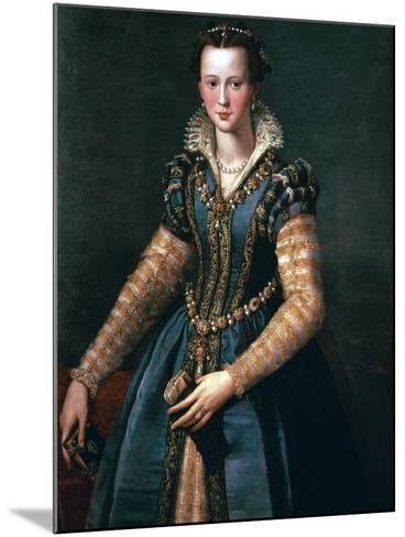 Portrait of Maria De Medici, 16th Century-Alessandro Allori-Mounted Giclee Print