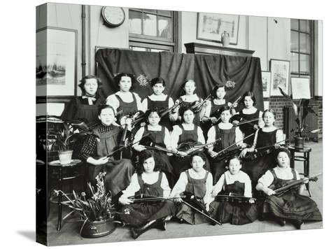 Violinists, Myrdle Street Girls School, Stepney, London, 1908--Stretched Canvas Print