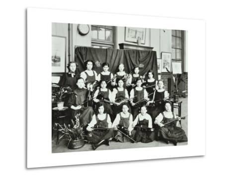 Violinists, Myrdle Street Girls School, Stepney, London, 1908--Metal Print
