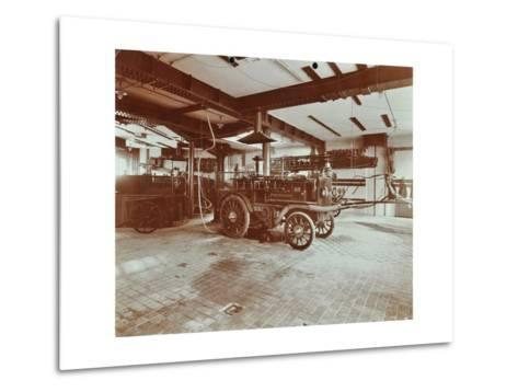 Fire Engine at Cannon Street Fire Station, Cannon Street, City of London, 1907--Metal Print