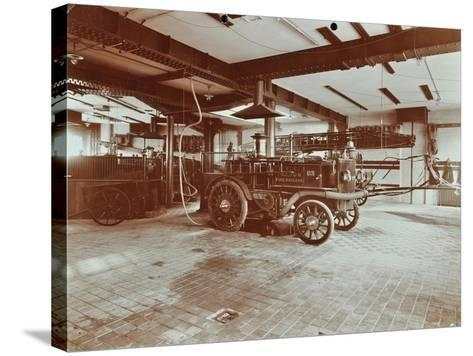Fire Engine at Cannon Street Fire Station, Cannon Street, City of London, 1907--Stretched Canvas Print