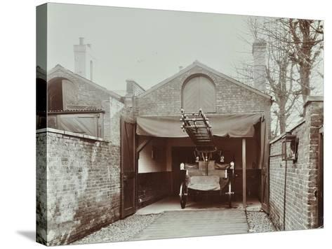 Fire Engine at Streatham Fire Station, London, 1903--Stretched Canvas Print